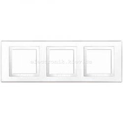 Schneider (Шнайдер) Unica basic белая рамка на три места