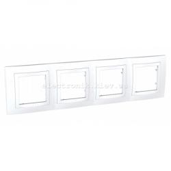 Schneider (Шнайдер) Unica basic белая рамка на четыре места