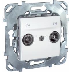 Schneider (Шнайдер) Unica белая розетка оконечная TV/SAT