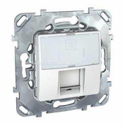 Schneider (Шнайдер) Unica белая компьютерная розетка 1хRJ45 кат. 5е