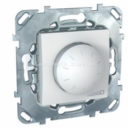 Диммер поворотно-нажимной универсальный 4-40 вт (подходит для LED освещения) Schneider (Шнайдер) Unica, белый