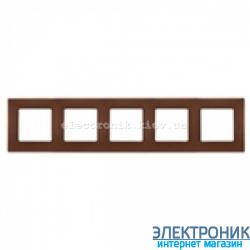 Рамка 5-ти постовая Legrand Etika (какао)
