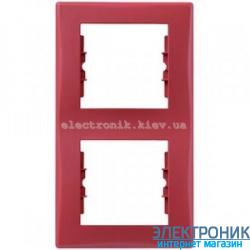 Рамка Schneider-Electric Sedna 2-постовая вертикальная красный