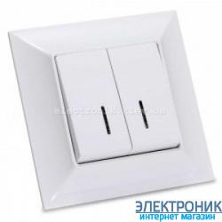 Neoline выключатель 2-кл. с подсветкой белый