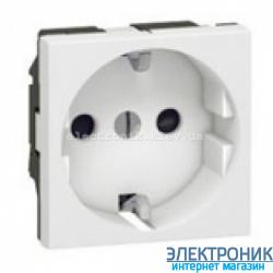 Механізм розетки 2К+З, нім. станд. без шторок, 2 мод., Mosaic