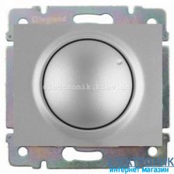 Светорегулятор поворотный 40 до 400Вт  Legrand Galea Life цвет серебро