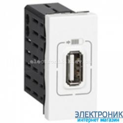 Механізм розетки USB одинарна 5В-750мА., Mosaic