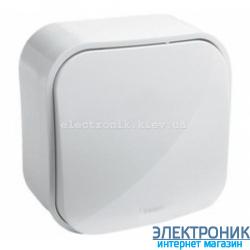 Выключатель кнопочный, наружный, белый - Legrand Forix