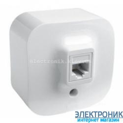 Розетка телефонная RJ11, наружная, белый - Legrand Forix