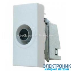 MOSAIC Розетка TV 9,52мм (1модуль) колір Білий