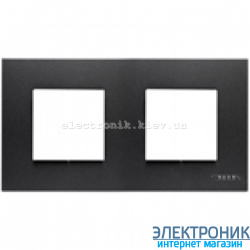Рамка 2 пост ABВ Zenit антрацит