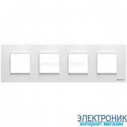 Рамка 4 пост ABВ Zenit белый