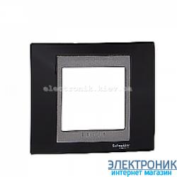 Рамка 1-я Schneider Electric Unica Top Черный родий/Графит