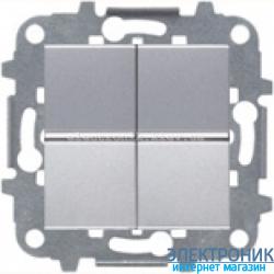 Выключатель 2-кл. универсальный проходной ABВ Zenit серебро