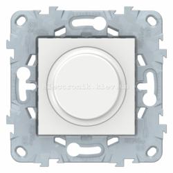 Диммер поворотно-нажимной , 200Вт LED универсальный, Белый, серия Unica New