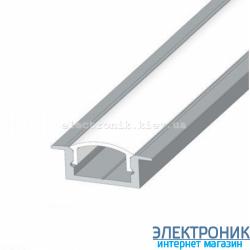 Профиль внутренний алюминиевый анодированный  2 метра цвет серебро.