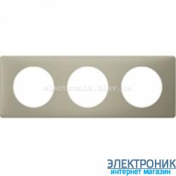 Рамка 3-постовая Legrand Celiane, прямоугольная, 232х82мм (грин перкаль)