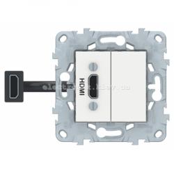 Розетка HDMI, Белый, серия Unica New