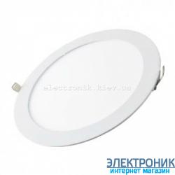 Світлодіодна панель кругла-12Вт  (Ø174/Ø158) 6400K, 950 люмен