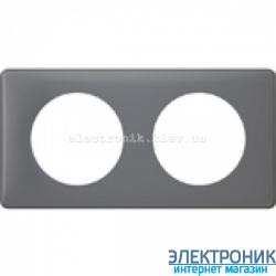 Рамка 2-постовая Legrand Celiane, прямоугольная, 161х82мм (фиолетовая перкаль)