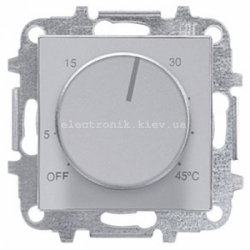 Терморегулятор теплого пола ABB SKY нержавеющая сталь