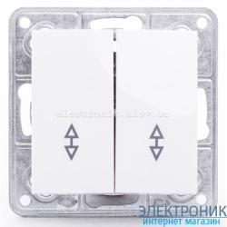 Выключатель проходной двойной Tesla LXL белый