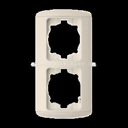 Рамка 2-кратная вертикальная, КРЕМ, EL-BI Zirve Fixline