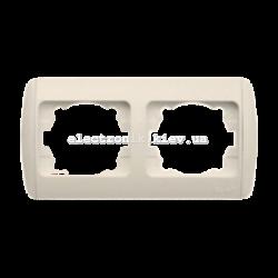 Рамка 2-кратная горизонтальная, КРЕМ EL-BI Zirve Fixline