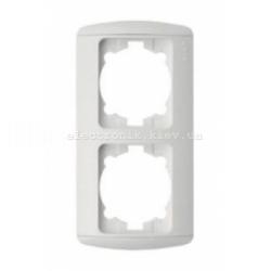 Рамка 2-кратная вертикальная, белая, EL-BI Zirve Fixline