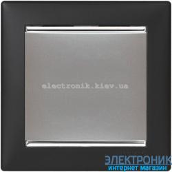 Рамка однопостовая Legrand Valena (ноктюрн/серебряный штрих)