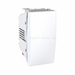 Выключатель 1-кл Unica 1 модуль белый