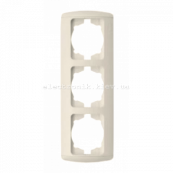 Рамка 3-кратная вертикальная, КРЕМ, EL-BI Zirve Fixline