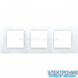 Рамка трехместная Schneider (Шнайдер) Unica Quadro Белая