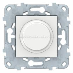 Диммер поворотно-нажимной , 400Вт для л/н и эл.трансф., Белый, серия Unica New