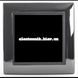 Рамка 1-ая Tesla LXL черная сталь/графитовый металлик