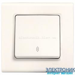 Выключатель проходной одноклавишный VIKO Linnera Белый Крем