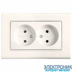 Розетка двойная VIKO Linnera Крем