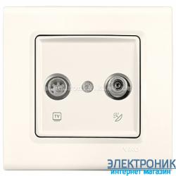 Розетка ТВ / SAT   VIKO Linnera Крем