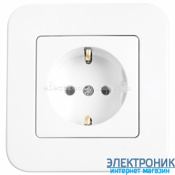 Розетка VIKO Rollina (с заземлением) Белая (90420008)