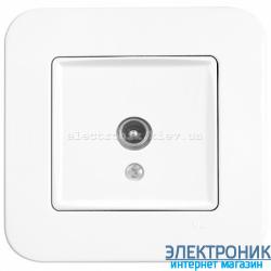 Розетка ТВ проходная 12 дБ VIKO Rollina Белая (90420060)