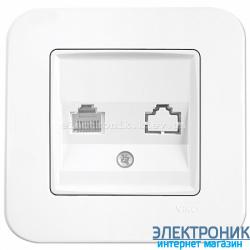 Розетка телефонная VIKO Rollina Белая (90420013)