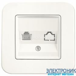 Розетка телефонная VIKO Rollina КРЕМ (90420013)