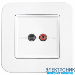 Аудиорозетка для динамиков VIKO Rollina Белая (90420037)