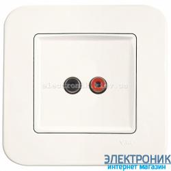 Аудиорозетка для динамиков VIKO Rollina КРЕМ (90420037)