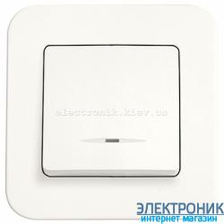 Выключатель с подсветкой одноклавишный VIKO Rollina КРЕМ (90420019)