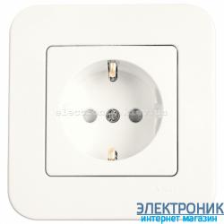 Розетка с защитными шторками VIKO Rollina (с заземлением) КРЕМ (90420042)