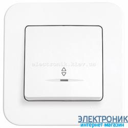 Выключатель проходной одноклавишный с подсветкой VIKO Rollina Белый (90420063)