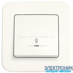 Выключатель проходной одноклавишный с подсветкой VIKO Rollina КРЕМ (90420063)