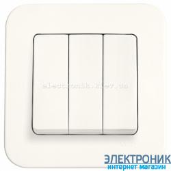 Выключатель трехклавишный VIKO Rollina КРЕМ (90420068)