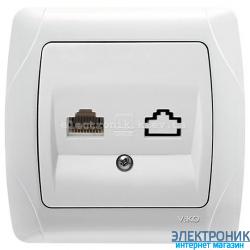 VIKO CARMEN БЕЛЫЙ Розетка компьютерная